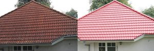 Softwash roof before and after